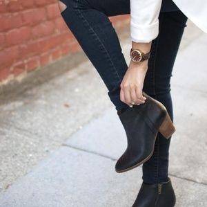MADEWELL True Black Billie Boot Size 9